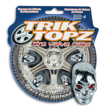 Load image into Gallery viewer, Skull Head Chrome (4 Pack)-Item #8033