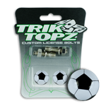 Soccer Ball License Bolt Black