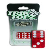 Dice License Bolt Clear Red