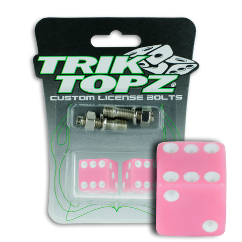 Dice License Bolt Pink