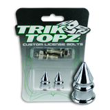 Spike License Bolt Chrome