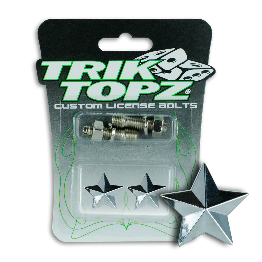 Star License Bolt Chrome