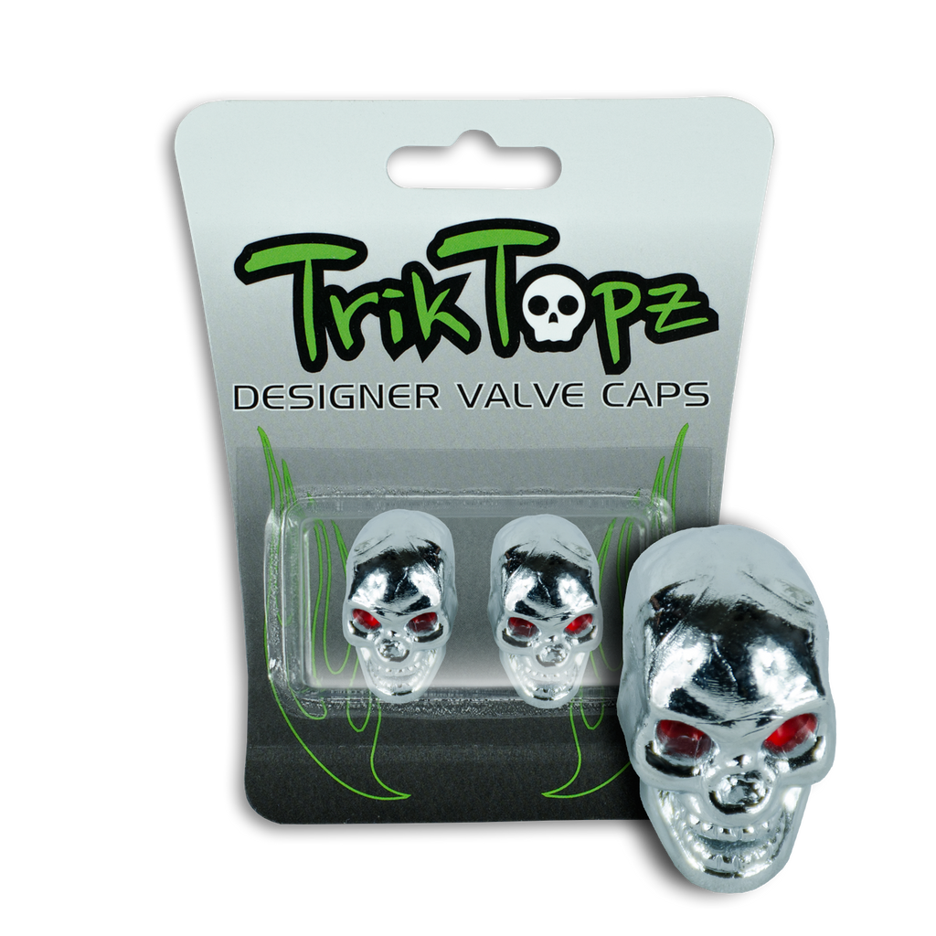 Skull Head Chrome (2 Pack)-Item #8633