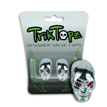 Load image into Gallery viewer, Skull Head Valve Cap Chrome (2 Pack)