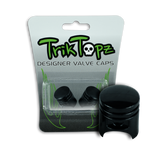 Piston Valve Cap Black (2 Pack)