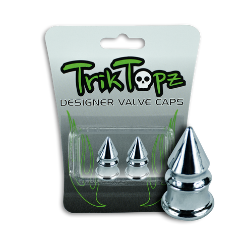 Spike Valve Cap Chrome (2 Pack)