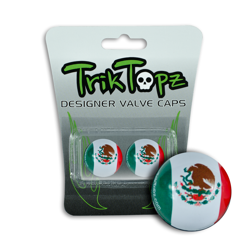 Mexico Flag Valve Cap (2 Pack)
