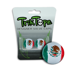 Load image into Gallery viewer, Mexico Flag Valve Cap (2 Pack)