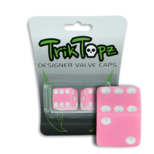 Load image into Gallery viewer, Dice Valve Cap Pink (2 Pack)