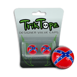 Rebel Flag Valve Cap (2 Pack)