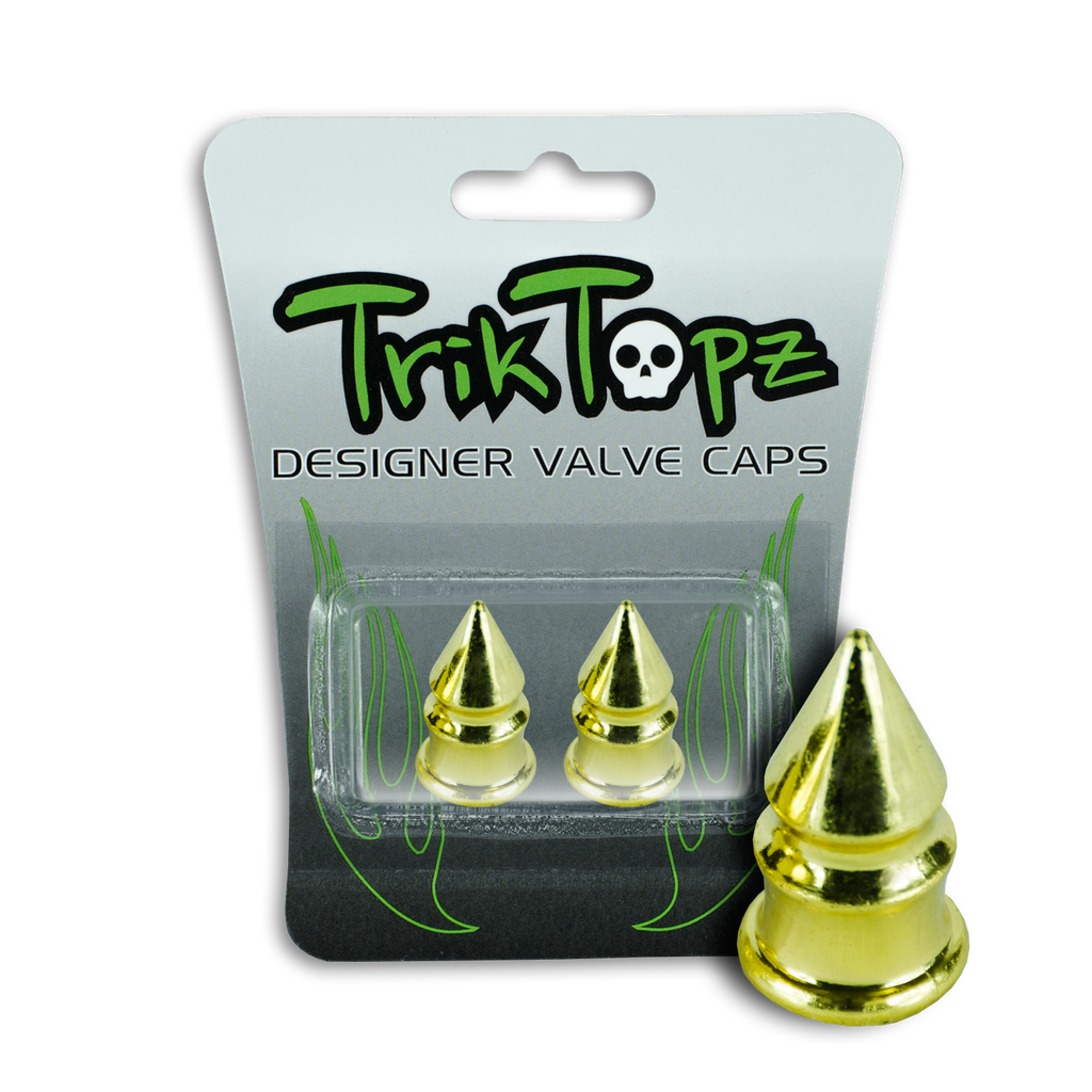 Spike Valve Cap Gold (2 Pack)
