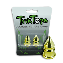 Load image into Gallery viewer, Spike Valve Cap Gold (2 Pack)