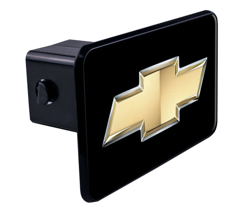 Chevy Bowtie Gold Hitch Cover
