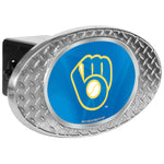 Milwaukee Brewers Zinc Hitch Cover