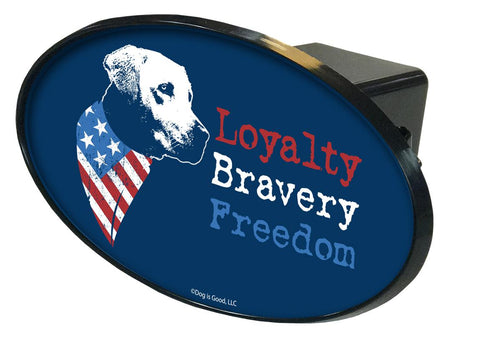 Loyalty, Bravery, Freedom Hitch Cover