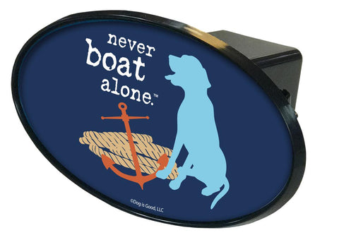 Never Boat Alone Hitch Cover