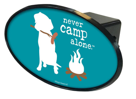 Never Camp Alone Hitch Cover