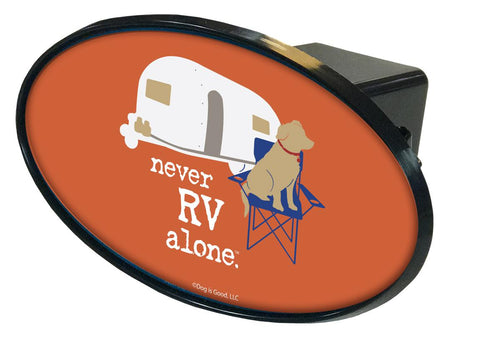 Never RV Alone Hitch Cover