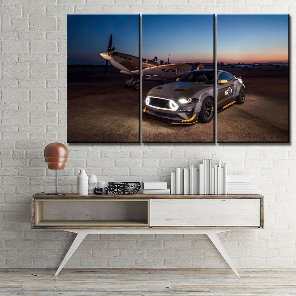 Ford Eagle Squadron Mustang Gt Wall Art Deco
