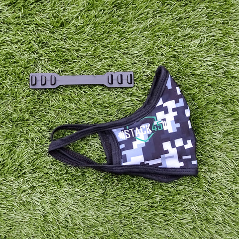 Face Mask - Limited Edition Grey Pixel Camo (Single Layer)