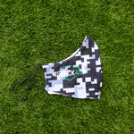 Face Mask - Grey Pixel Camo (Adjustable & Double Layer)