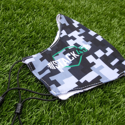 Face Mask - Limited Edition Grey Pixel Camo (Adjustable & Double Layer)