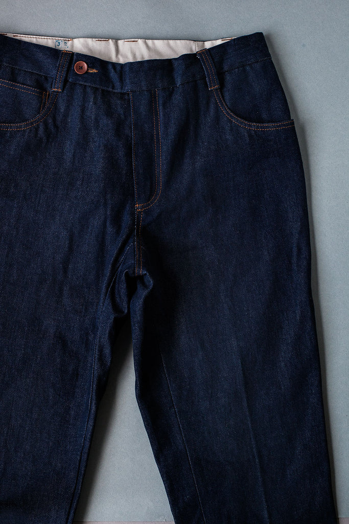 5 bolsillos // Denim Italiano Azul 12 oz.