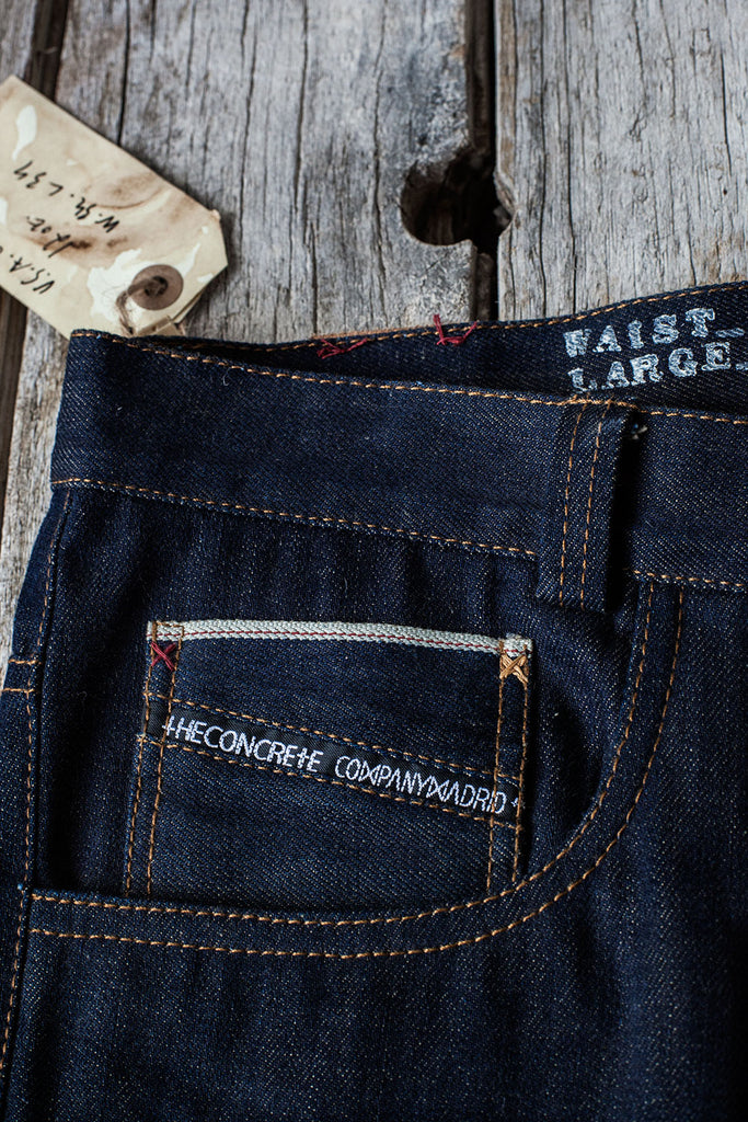 "5 bolsillos TC02 // Denim Indigo Selvedge ""Cone Mills"" 12 oz."