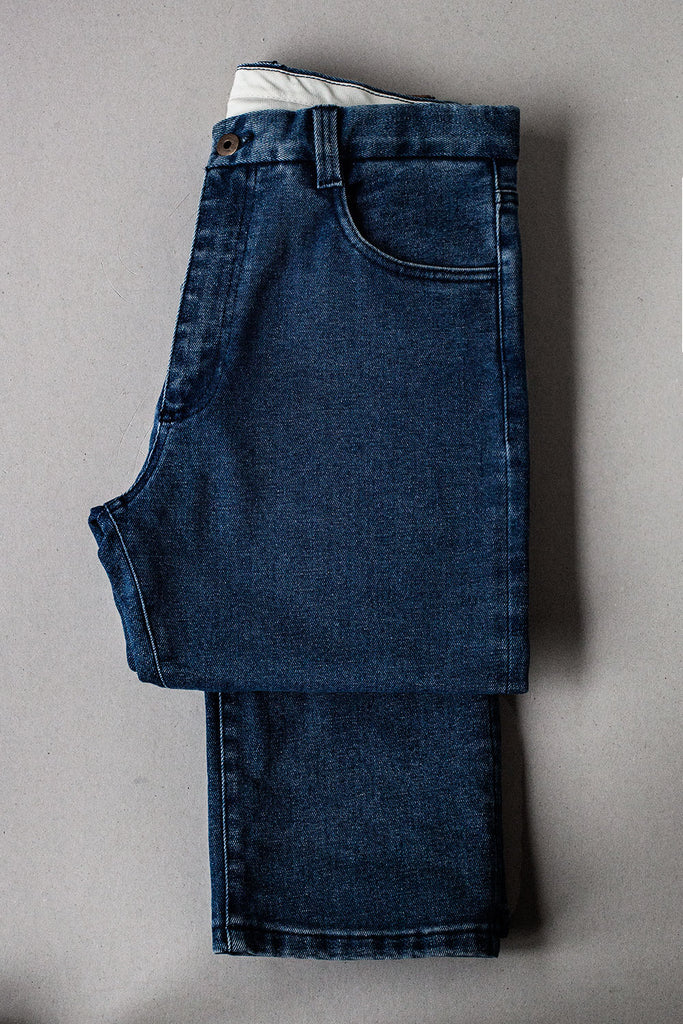 5 bolsillos TC02 // Denim Indigo Reciclado 12 oz. Lavado