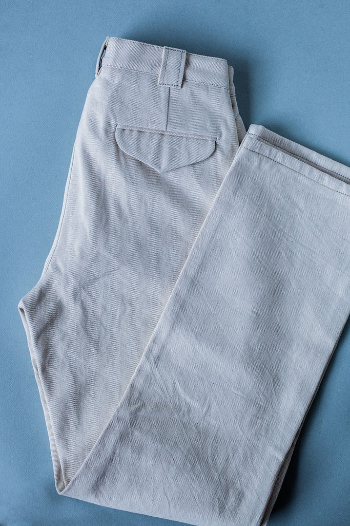 Pantalón Flattop // denim Natural 12 oz.