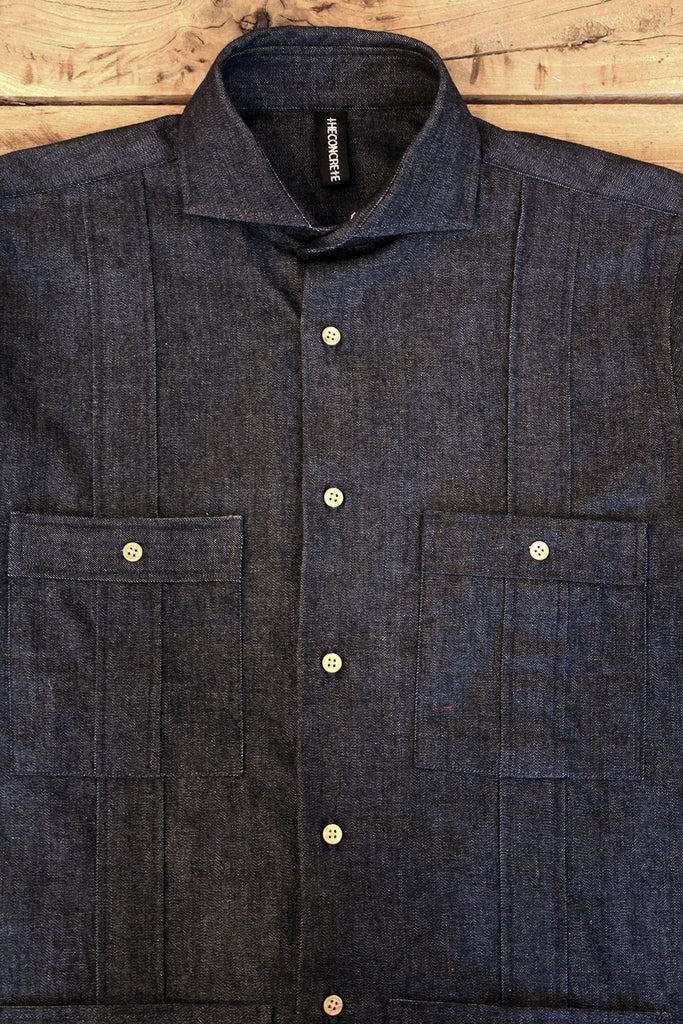 Guayabera // Denim Indigo 7 oz