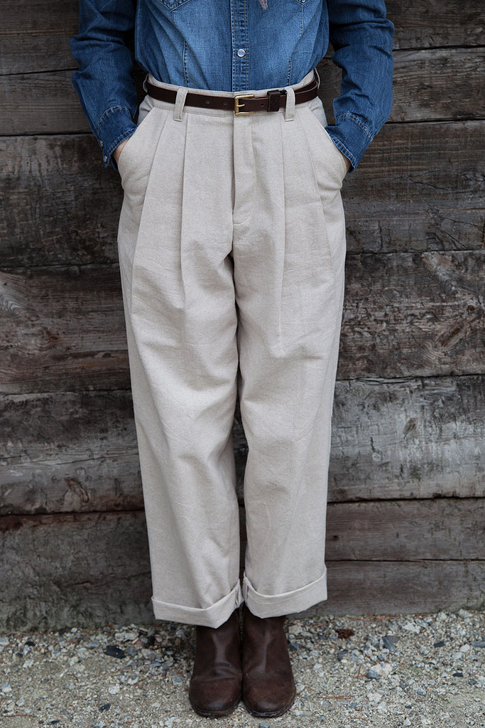Pantalón Cris // Beige Canvas 6 oz.