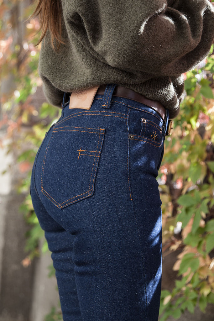 "5 Bolsillos ""El vaquero Perfecto"" // Recycled Denim super stretch 12 oz."
