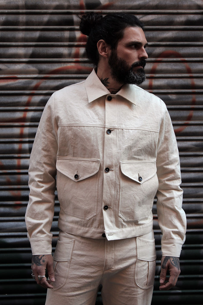 Chaqueta Aviador V.I // Natural denim