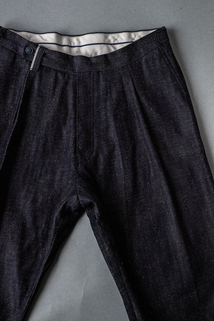 Pantalón de Pinza // Spain dead Stock 10 oz. Denim Indigo Selvedge