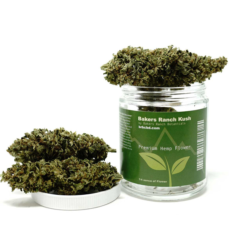 Hemp Flower - Premium Trimmed Indoor grown Hemp Bud - Bakers Ranch Kush 1/4 oz Premium Indoor Hemp by Bakers Ranch Botanicals