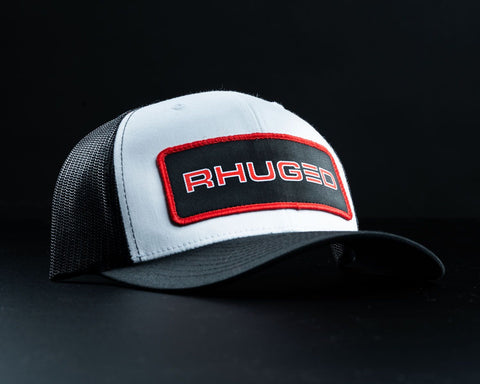 Rhuged Hat-White/Black