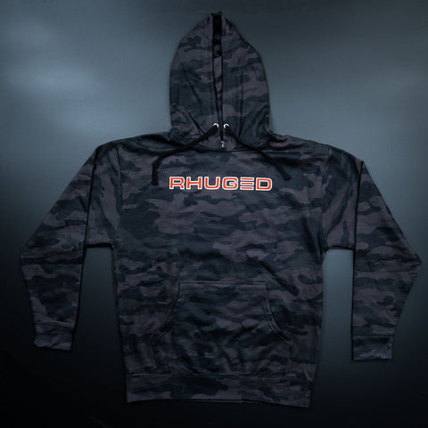 Image of Rhuged Hoodie-Black Camo