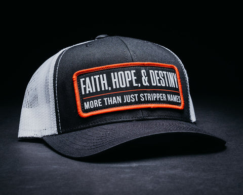 Image of Stripper Name Hat-Black/White