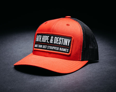Image of Stripper Name Hat-Red/Black
