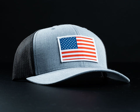 Image of American Flag Hat-Gray/Black