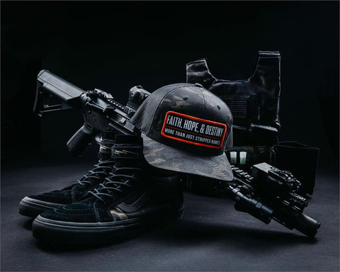 STRIPPER NAME HAT-BLACK MULTICAM