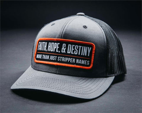 Image of Stripper Name Hat-Gray/Black