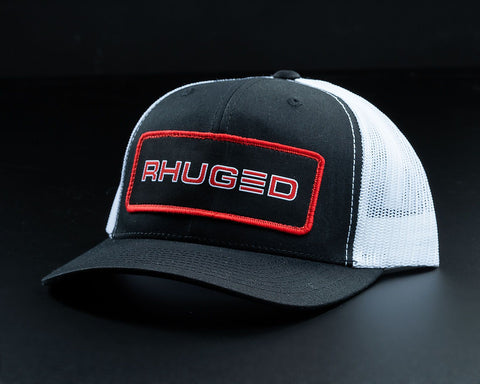 Image of Rhuged Hat-Black/White