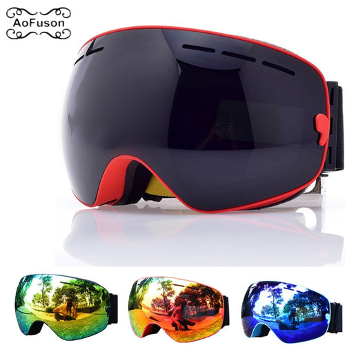 Ski Goggles, Snowboard Glasses Double Layers UV400 Anti-fog Big Mask Men Women Winter Snow Snowmobile Gafas De Skiing Eyewear