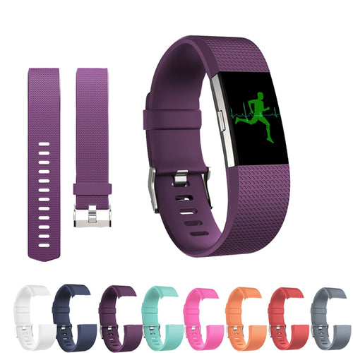 Strap for Fitbit Charge 2 Silica Strap for Fitbit Wristband Replacement Fitbit Accessories Strap for Smart Band Sports Strap.