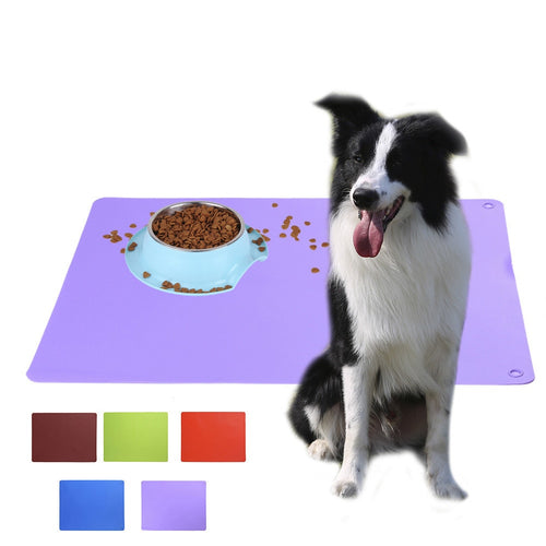 Silicone Pet Food Pad Dog Feeding Mat Waterproof Rubber Large Pet Mat For Dog Cat Feeder Placemat Protects Your Floor
