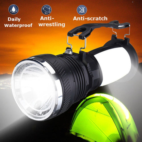 Solar Power Lamp Rechargeable Battery LED Flashlight Outdoors Camping Tent Light Lantern Lamp @8 WWO66