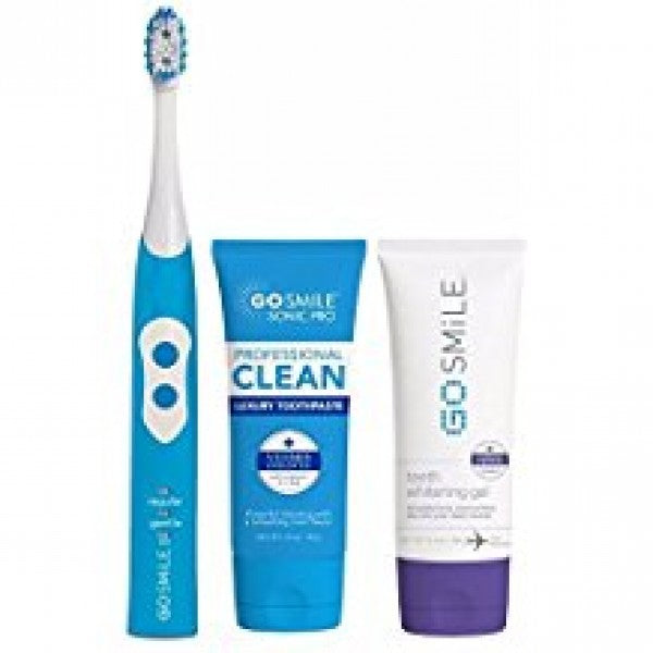 Go Smile Sonic Pro 2-in-1 Cleaning & Whitening Toothbrush System (Aqua Blue)