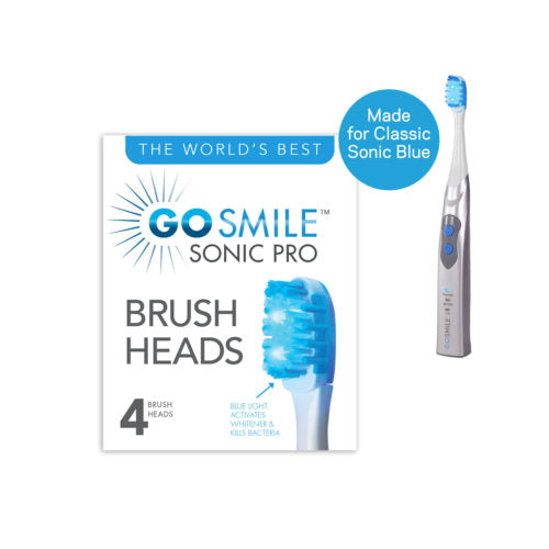 Go Smile Sonic Pro Replacement Brush Heads (4 Pack)